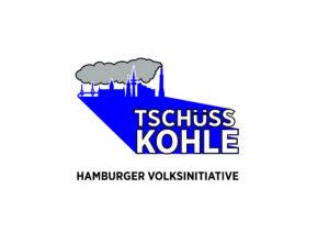 Logo Tschüss Kohle Schriftzug unten CMYK